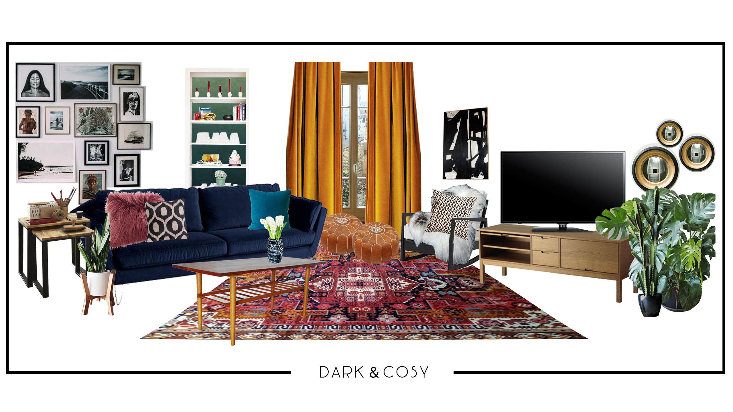 In This Dark U0026 Cosy Version, The Room Is Geared Toward An Abundance Of  Textures, Especially Velvet And Faux Fur, To Create A Warm And Inviting  Space.